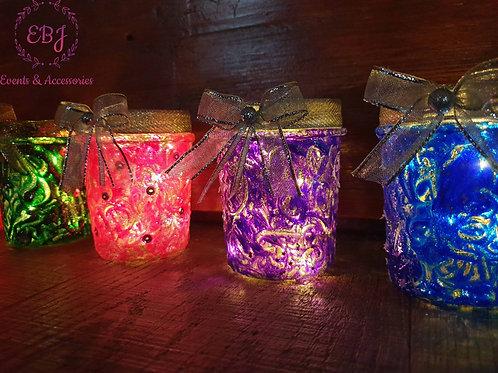 Vasetti illuminati con Luce Led / Portacandela senza Luce Led