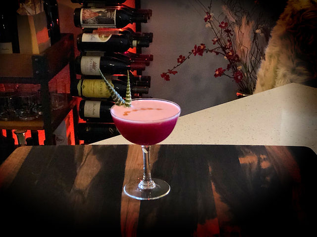 Prickly Pear Pisco Sour