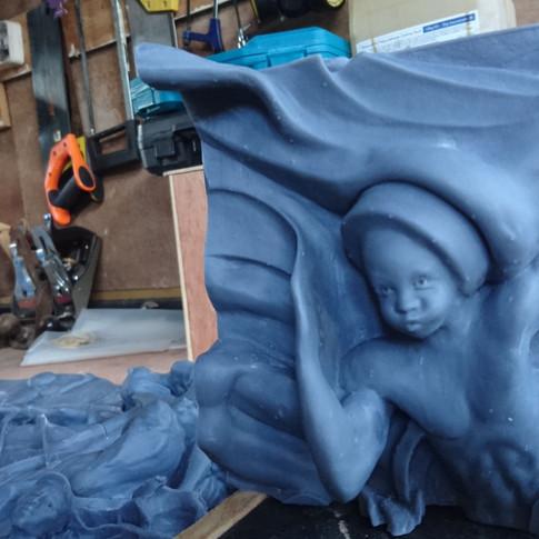 Artist Donald Brown sculptures