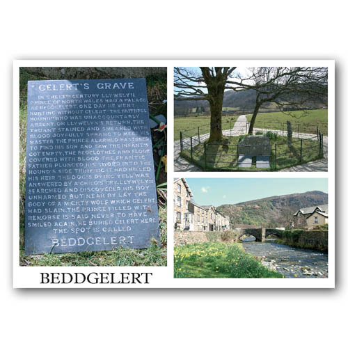 Beddgelert 3 Multi View - Sold in pack (100 postcards)