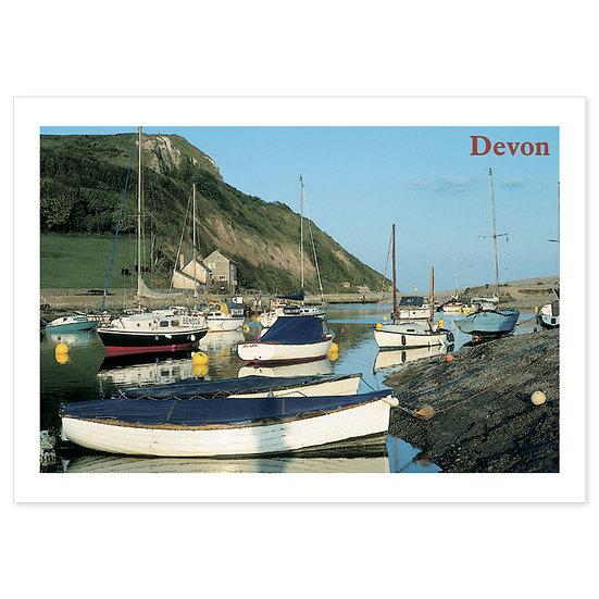 Devon Down In Harbour - Sold in pack (100 postcards)
