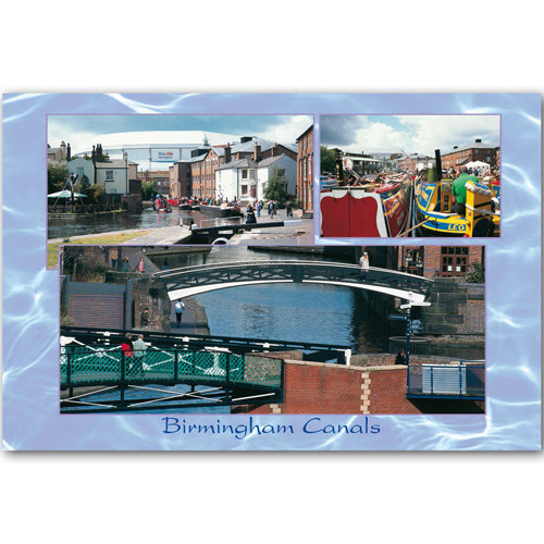 Birmingham Canal 3 View Comp - Sold in pack (100 postcards)