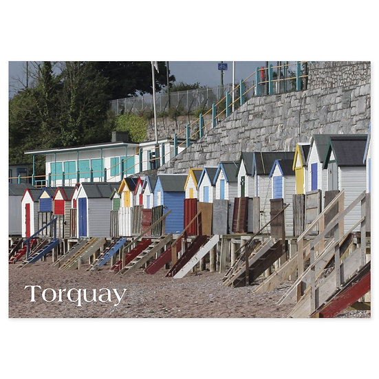 Torquay Huts - Sold in pack (100 postcards)
