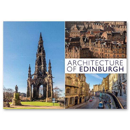 Edinburgh, Architecture 3 view composite - Sold in pack (100 postcards)