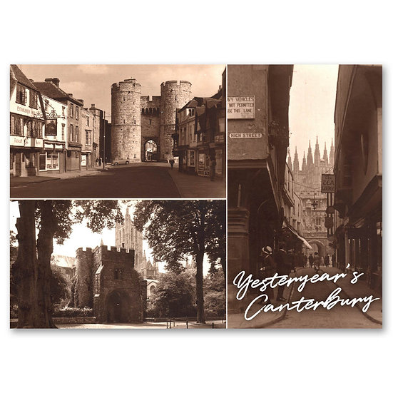 Canterbury Yesteryear, 3 view composite - Sold in pack (100 postcards)