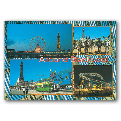 Blackpool - Around - Sold in pack (100 postcards)