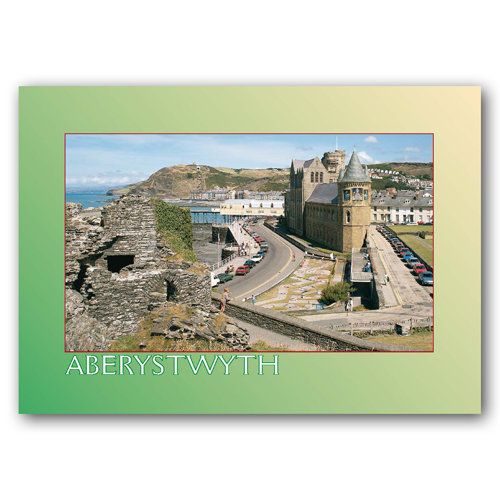 Aberystwyth From Castle - Sold in pack (100 postcards)