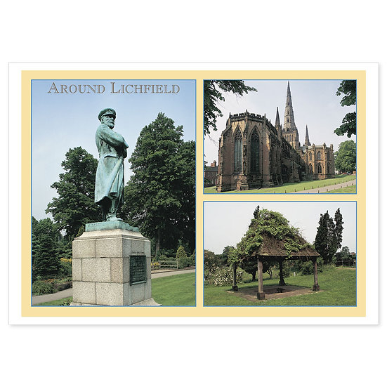 Lichfield Around Comp - Sold in pack (100 postcards)