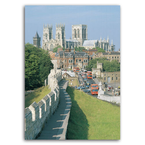 York Minster from City Walls - Sold in pack (100 postcards)