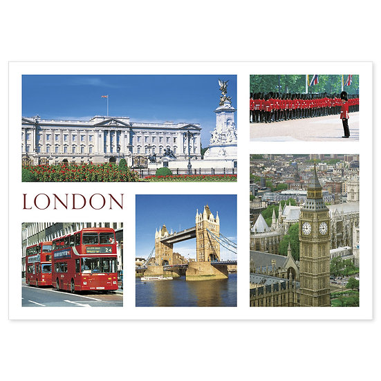 London 5 View - Sold in pack (100 postcards)