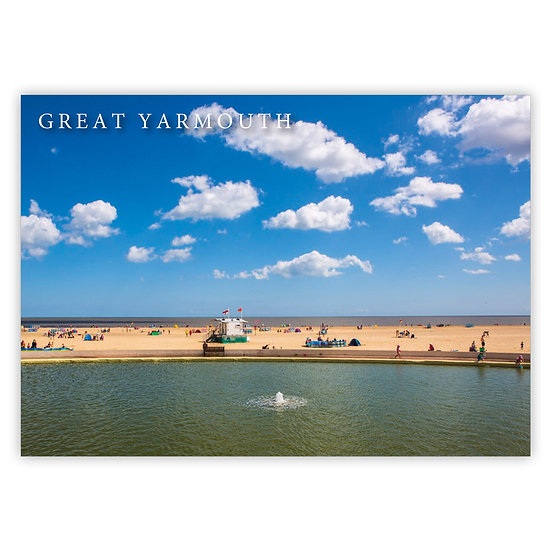 Great Yarmouth, Yacht Pond - Sold in pack (100 postcards)