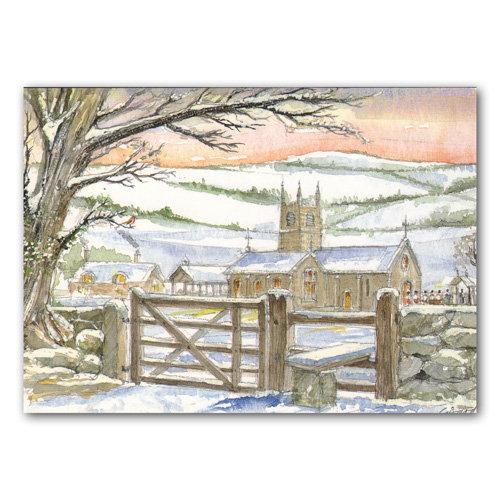 Devon Christmas Postcard - Sold in pack (100 postcards)