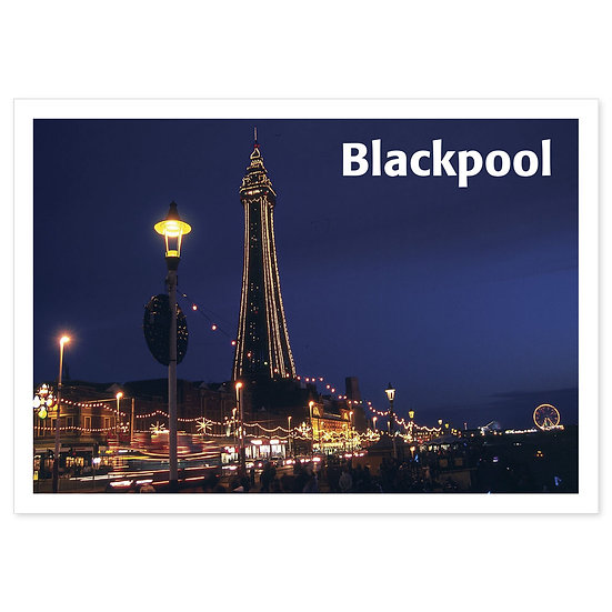 Blackpool Illuminations - Sold in pack (100 postcards)