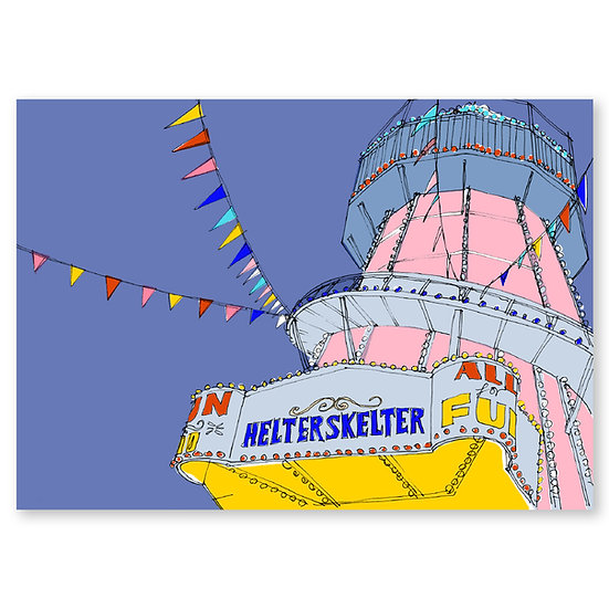 Life's a Beach by Lucy Sheeran : Helter Skelter - Sold in pack (100 postcards)