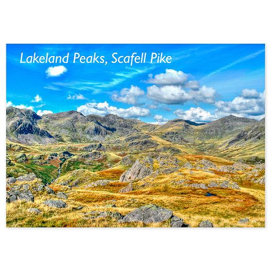 Lakeland Peaks, Scafell Pike - Sold in pack (100 postcards)