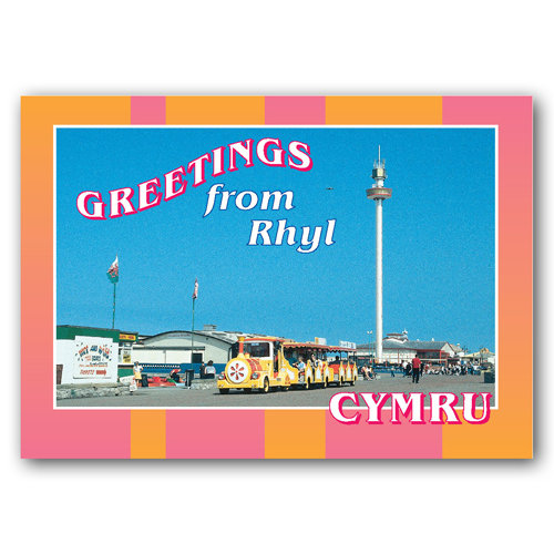 Rhyl Greetings From - Sold in pack (100 postcards)