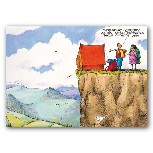 Yorkshire Humour Rocky Crag - Sold in pack (100 postcards)