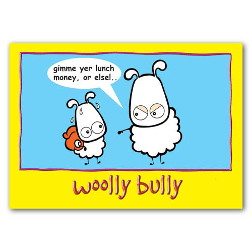 Baa - Woolly Bully - Sold in pack (100 postcards)