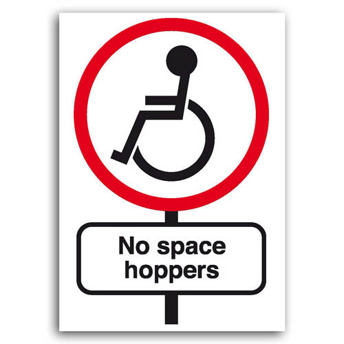 Road Signs - No Space Hoppers - Sold in pack (100 postcards)