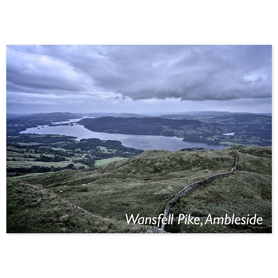Ambleside Wansfell Pike - Sold in pack (100 postcards)