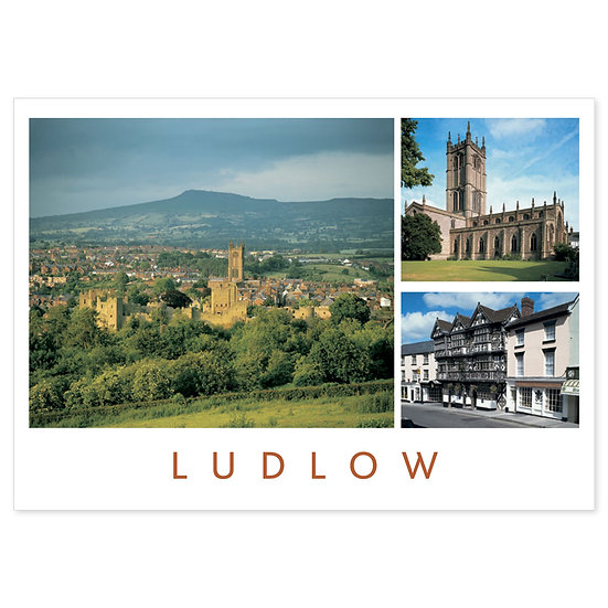Ludlow Feathers Hotel - Sold in pack (100 postcards)