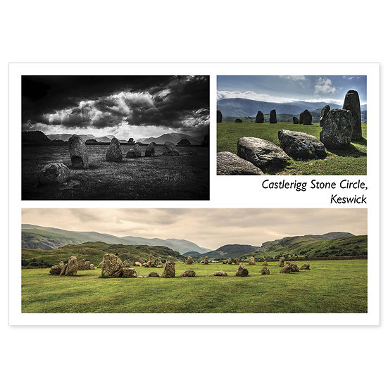 Keswick Castlerigg Stone Circle - Sold in pack (100 postcards)