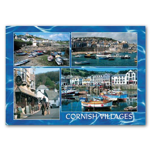 Cornish Villages - Sold in pack (100 postcards)