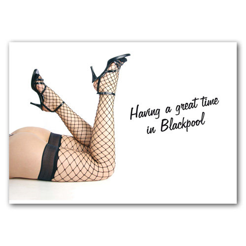 Blackpool Having a great time - Sold in pack (100 postcards)