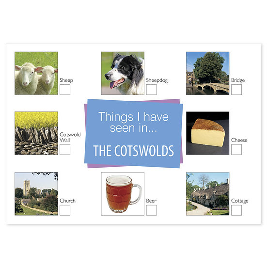 Cotswolds Things I have Seen - Sold in pack (100 postcards)