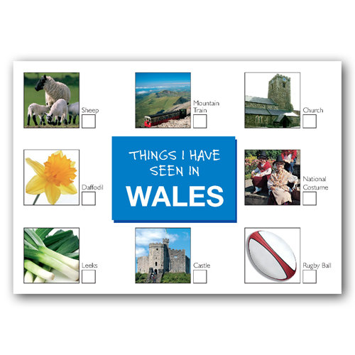 Wales Things I Have Seen In - Sold in pack (100 postcards)