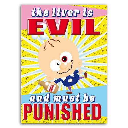 Little Devils - The Liver Is Evil - Sold in pack (100 postcards)