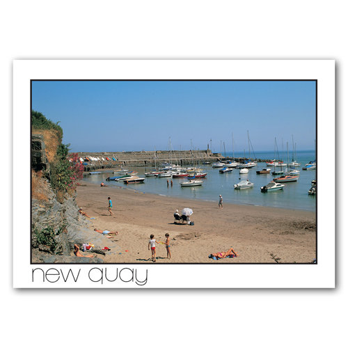 New Quay Beach & Harbour - Sold in pack (100 postcards)
