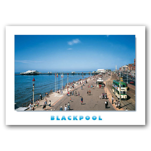 Blackpool Prom & Pier - Sold in pack (100 postcards)