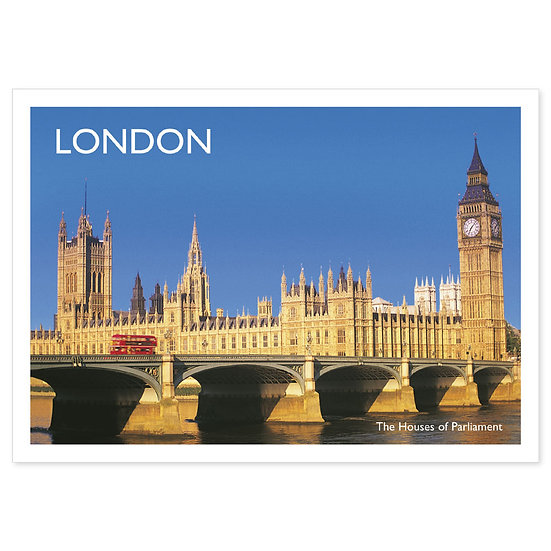 London Houses of Parliament - Sold in pack (100 postcards)