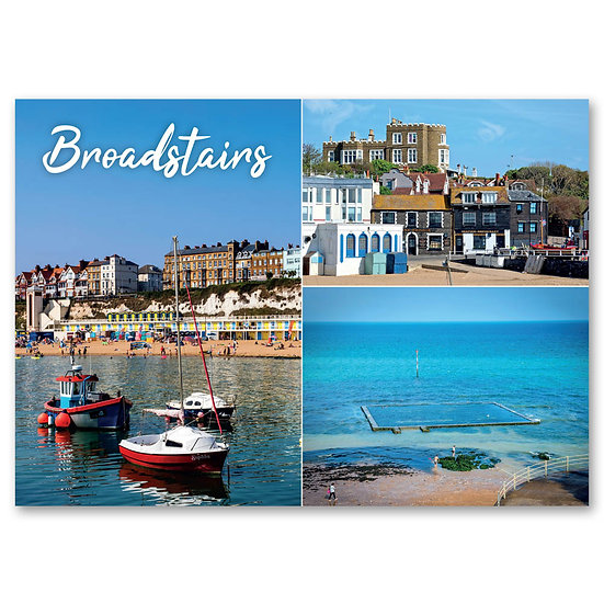 Broadstairs, 3 view composite - Sold in pack (100 postcards)