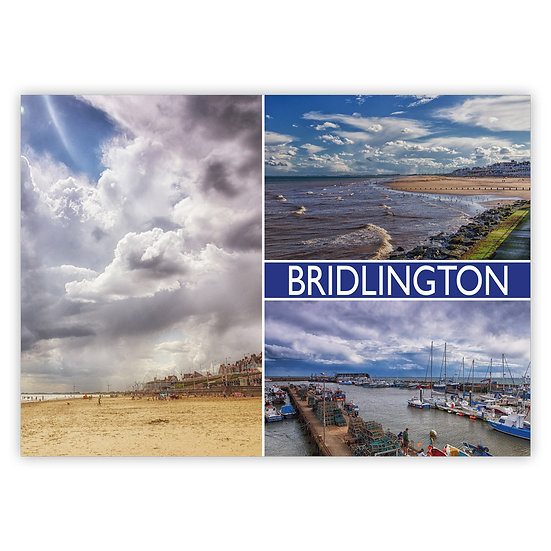 Bridlington 3 View Comp - Sold in pack (100 postcards)