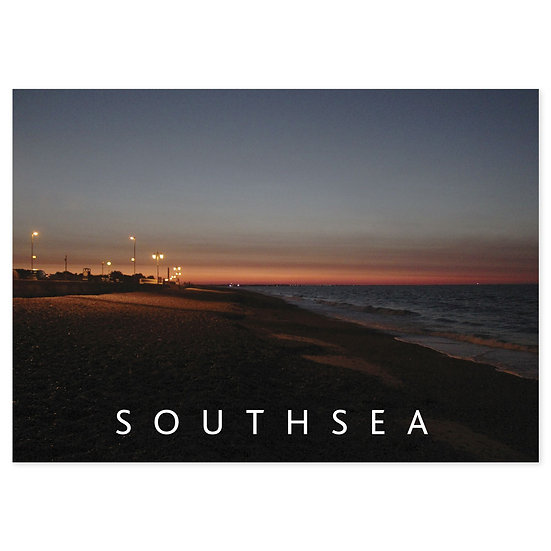 Southsea Beach Night - Sold in pack (100 postcards)