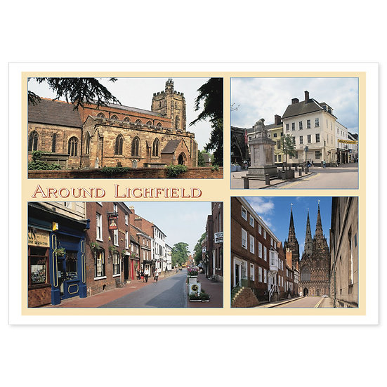 Lichfield Around 4 Comp - Sold in pack (100 postcards)