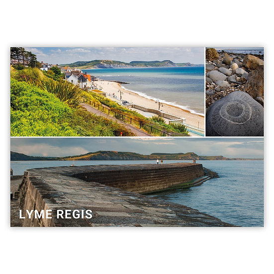 Lyme Regis 3 View Comp - Sold in pack (100 postcards)