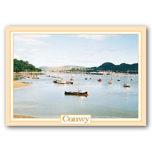 Conwy Boats - Sold in pack (100 postcards)