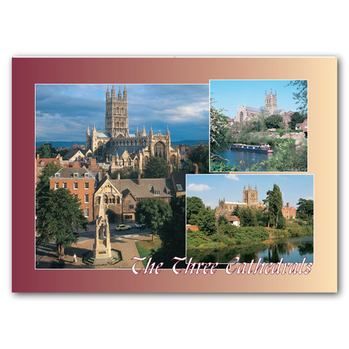 Herefordshire The Three Cathedrals - Sold in pack (100 postcards)