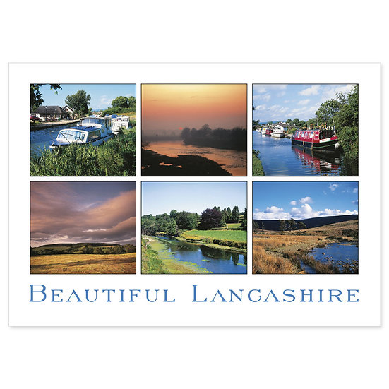 Lancashire Beautiful Compilation - Sold in pack (100 postcards)