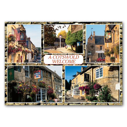 Cotswolds Welcome 5 View Comp - Sold in pack (100 postcards)
