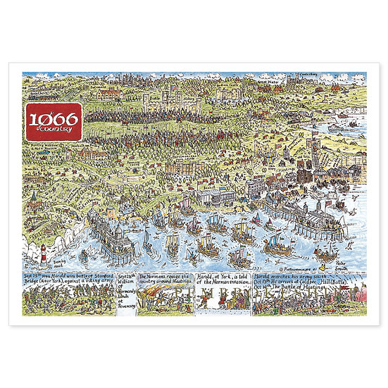 1066 Country Map - Sold in pack (100 postcards)