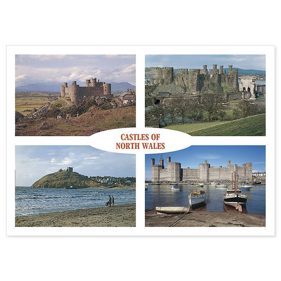 Castles of North Wales - Sold in pack (100 postcards)