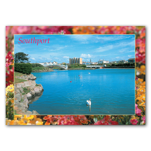 Southport Marine Lake - Sold in pack (100 postcards)
