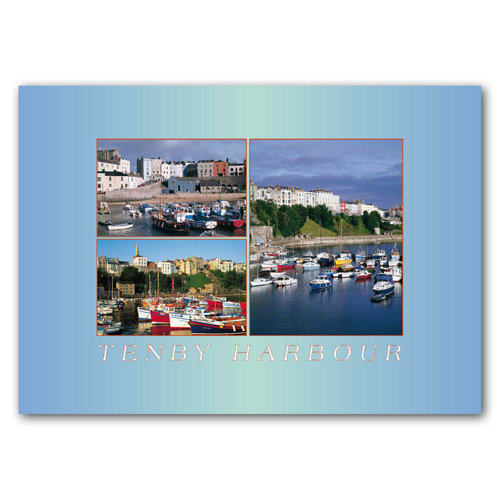Tenby Harbour - Sold in pack (100 postcards)