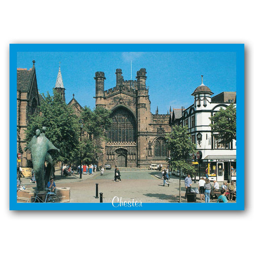 Chester West End of Cathedral - Sold in pack (100 postcards)