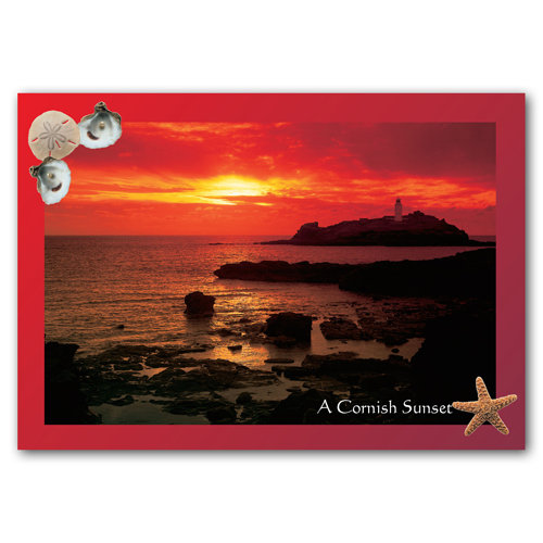 Cornish Sunset - Sold in pack (100 postcards)