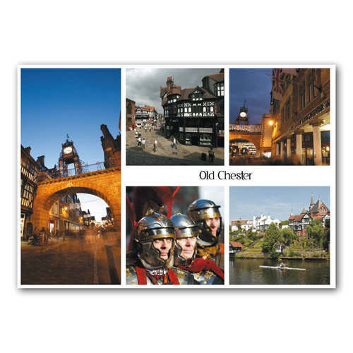 Chester Old 5 View - Sold in pack (100 postcards)